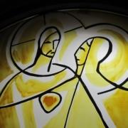 Christus und die hl. Gertrud